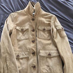 J crew leather utility cargo jacket